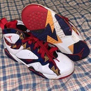 """Jordan 7 """"Nothin but Net"""" Size 6y"""